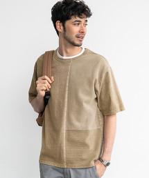 SC ASUTEX 異材質拼接圓領短袖T恤