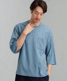 SC 條紋混色圓領 7分袖 T恤