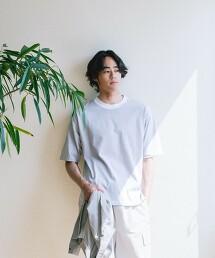 < 機能 / 抗菌・吸水速乾 > Livelihood New 橫條紋 圓領 T恤#