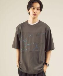 <GLR/ lab> 潑漆 圓領 短袖T恤