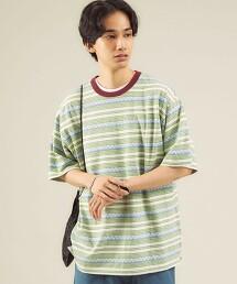 <GLR/ lab>緹花 橫條紋 圓領短袖T恤