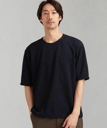 CSM 混色畦編無領  5分袖上衣 日本製
