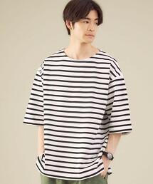 SC 巴斯克 橫條紋 5分袖上衣 日本製