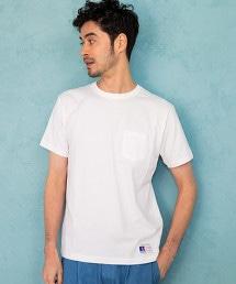 【先行預購】[RUSSELL ATHLETIC]SC★★RUSSELL 素色口袋T恤
