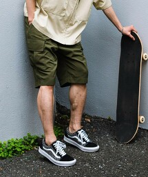 【 WEB限定 】[ GLR/ -or ] 寬版 工裝 短褲