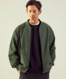 <green label relaxing>STRC KERSEY 素色無領外套