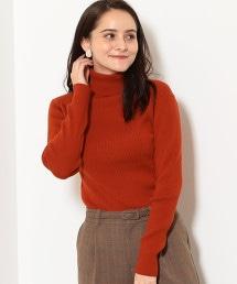 [可手洗] D 羊毛 12G 羅紋針織 高領針織毛衣
