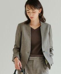 [可手洗 ]◆D 無領西裝外套 ◇No03◇