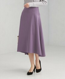 B嗶嘰 弧形裙襬 荷葉裙