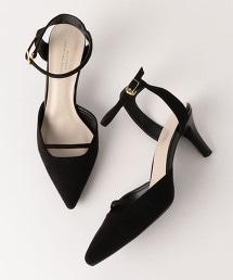 ◆D 尖頭繫帶跟鞋(6.5cm高)