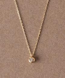 【Chainon】CR 單顆鑽石10K金台項鍊