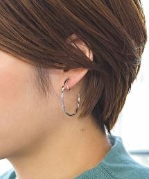 【Chainon】CS SILVER扭結環形 耳環