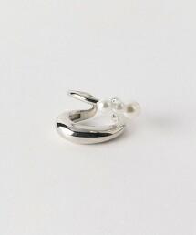 CS W線條 仿珍珠 單耳耳骨夾