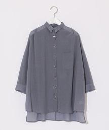 【先行預購】『BRACTMENT』透膚感寬版襯衫