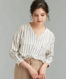 CFC 多臂織直條紋 W口袋襯衫