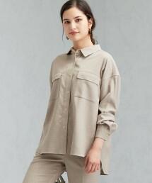 SC 雙口袋 寬版 格紋 襯衫外套