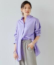 <1_OF MINE> 直條紋 開衩長袖襯衫