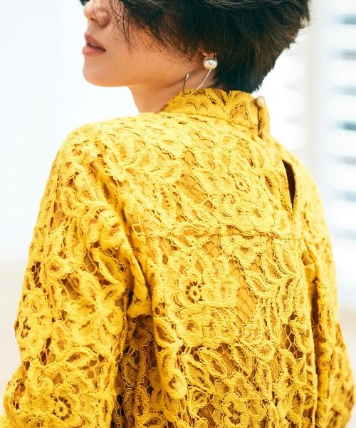 NFC 蕾絲 立領 罩衫