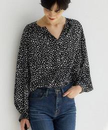 CFC 印花/素色 蓬鬆袖 罩衫 ※