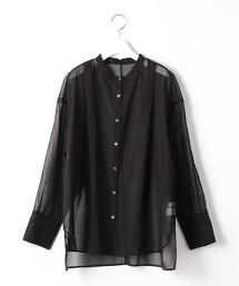 『BRACTMENT』 烏干紗 透膚 寬版襯衫