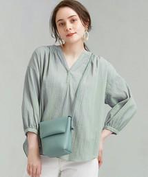FFC 楊柳布 縮褶 罩衫
