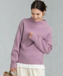 [ HAMILTON ] SC 半畦編 瓶口領 套頭上衣 針織毛衣