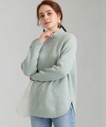CFC 圓弧下襬 高領針織衫 OUTLET商品