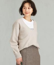 CFC BOILED / 羊毛 V領 套頭上衣 針織毛衣 ※