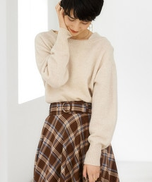 FFC 輕羊毛不對稱針織衫