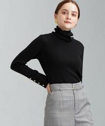[ 可手洗 ] FFC 羅紋微高領針織罩衫