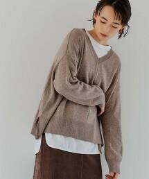 CFC W/RY/N 寬版V領針織罩衫