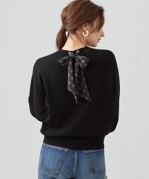 [可手洗] FFC 後蝴蝶結針織上衣