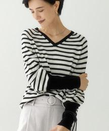 CFC W/RY/N 連肩袖 V領針織衫 ※