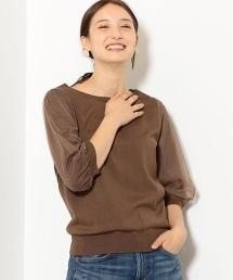 NFC 5分袖 薄紗袖針織衫