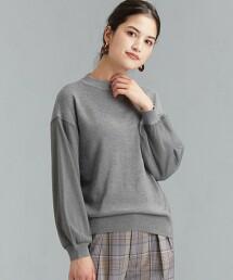 FFC 薄紗 袖 長絲纖維 針織套頭衫