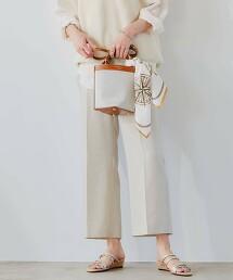◆FM 竹節紗 牛津布 喇叭褲