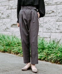 ◆ FM 附腰帶 錐形褲