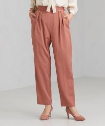 FM 緞面 打摺錐形褲