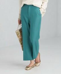 TW 平紋緯編布 八分 喇叭褲