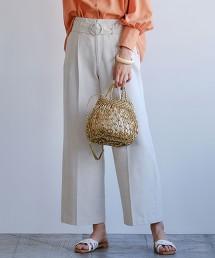 ◆SC 綾織寬版打摺褲