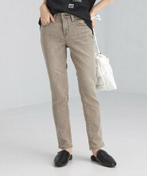 【特別訂製】<SOMETHING> HANA 灰色錐形牛仔褲 日本製