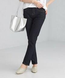 【特別訂製】<SOMETHING> HANA 深藍色錐形牛仔褲 日本製