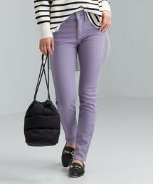 ◆SC 接結 窄管褲