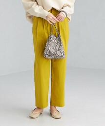 高密度織 2摺 錐形褲