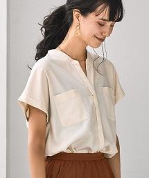 FM 附口袋 短袖 罩衫