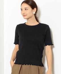 NFC 抽針布圓領捲邊縫罩衫