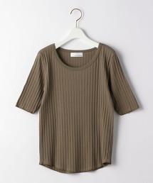 CFC 輕薄細孔洞圓領  5分袖 上衣 日本製