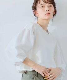 FFC 蓬袖 異材質拼接 罩衫 日本製