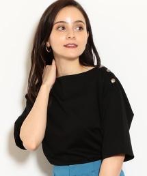 FM 羅馬布 肩釦 罩衫