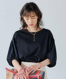 FFC 蓬鬆袖 異材質拼接 套頭剪裁上衣  日本製